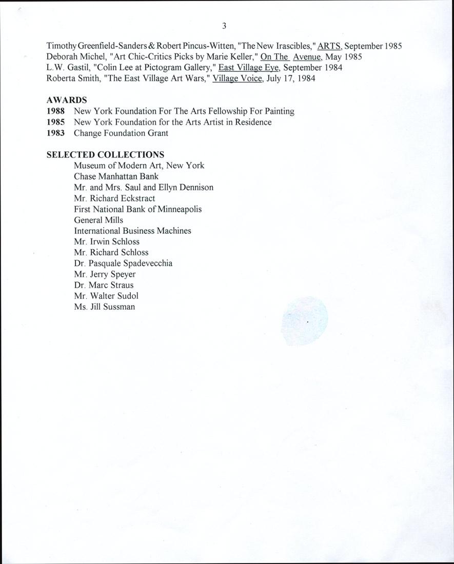Colin Loy Lee's Resume, pg 3